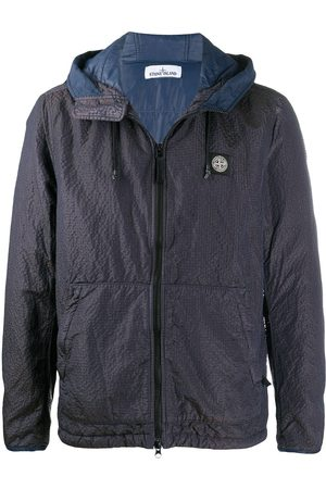 Stone Island Lightweight hooded jacket with logo at chest