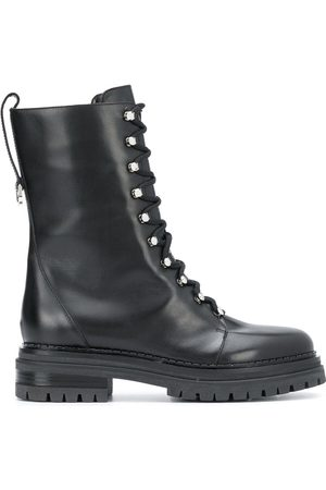 Sergio Rossi Lace-up combat boots