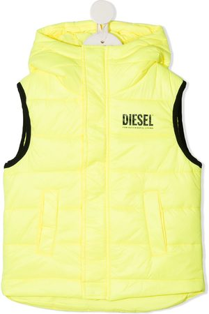 Diesel Logo print padded vest
