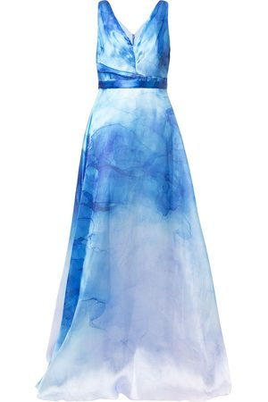 Marchesa Notte Women Party Dresses - Printed flared gown