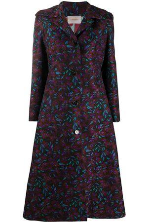 La DoubleJ Floral-print dress coat