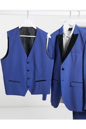 Selected Skinny fit tuxedo double breasted waistcoat