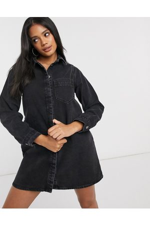 ASOS Denim shirt dress in washed