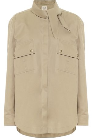 Tod's Neck-tie twill shirt