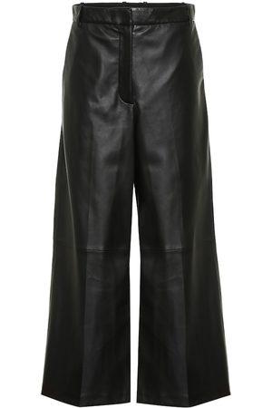 Joseph Women Leather Pants - Tuba wide-leg leather pants