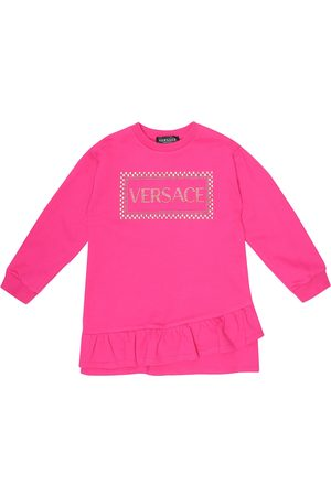 VERSACE Girls Casual Dresses - 90s Vintage cotton sweater dress