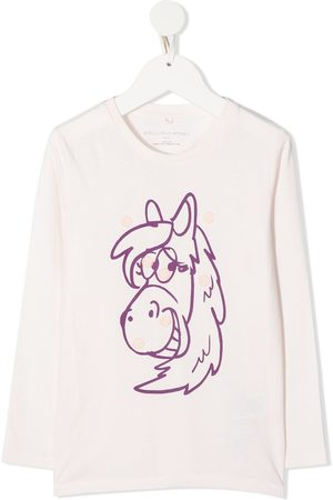Stella McCartney Horse-print badges organic-cotton T-shirt