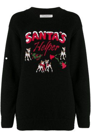 Serafini Santa's Helper printed jumper