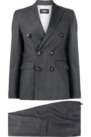 Dsquared2 Double breasted virgin wool suit jacket