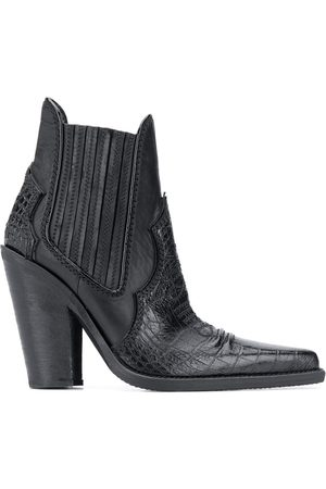 Dsquared2 Croc embossed panelled ankle boots
