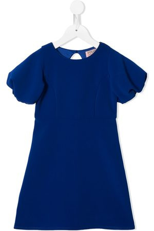 Marchesa Notte Puffy sleeve dress