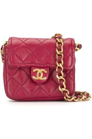 CHANEL 1990s mini diamond quilted chain pouch
