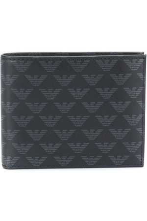 Emporio Armani Monogram print leather wallet