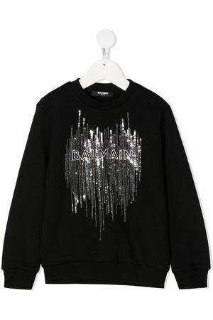 Balmain Sequined logo sweatshirt