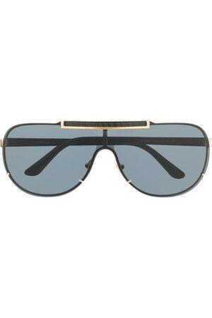 VERSACE Logo-detail tinted aviator sunglasses