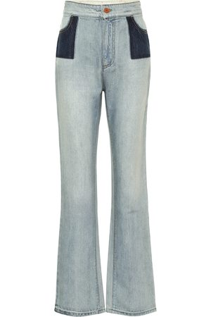Serafini High-rise flared jeans