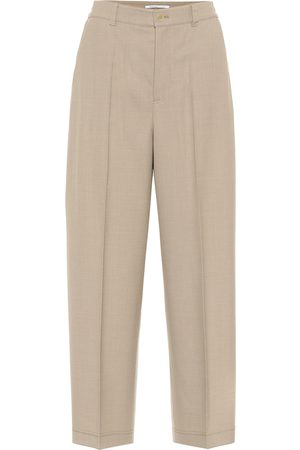 Agnona High-rise wool-blend pants