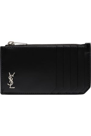 Saint Laurent Monogram fragments zip leather card holder