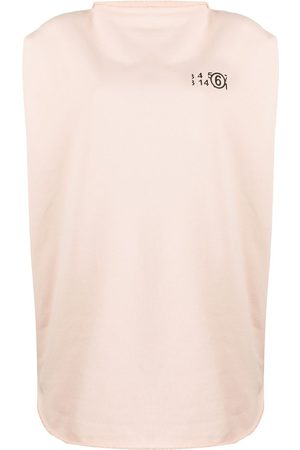 MM6 MAISON MARGIELA Number 6 logo cricle print top