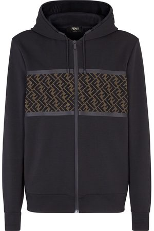 Fendi FF panel zipped hoodie