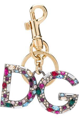 Dolce & Gabbana DG crystal-embellished keyring