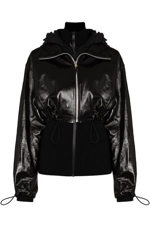 Bottega Veneta Glossy leather drawstring jacket