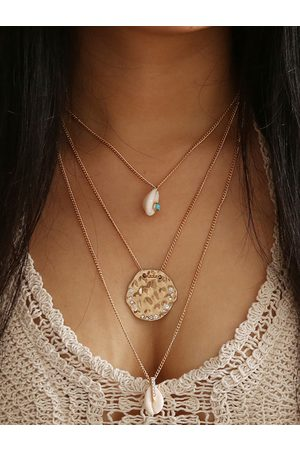 YOINS Vintage Gold Three-layer Necklace