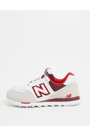 New Balance 574 trainers in cream suede