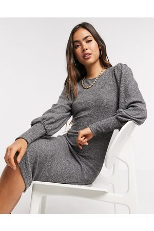 Y.A.S Women Knitted Dresses - Knitted midi dress with high neck in