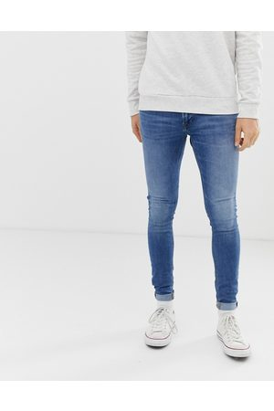 Jack & Jones Intelligence Tom spray on skinny fit jeans in