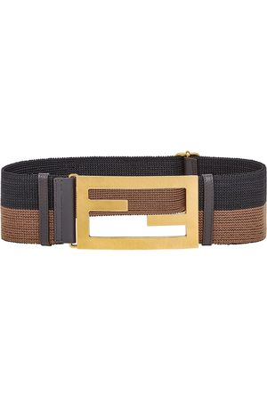 Fendi Elastic Baguette buckle belt