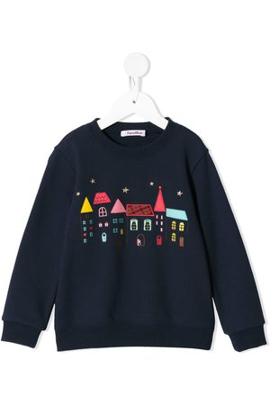 Familiar Girls Sweatshirts - House embroidery sweatshirt