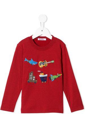 Familiar Multiple patches sweatshirts