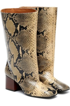 Marni Snake-effect leather boots