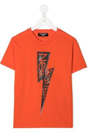 Neil Barrett Lightning logo T-shirt