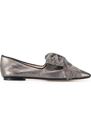 RODO Square toe bow-detail loafers