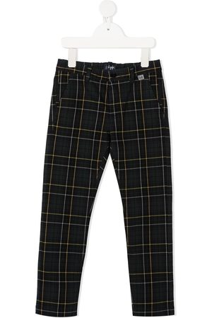 Il gufo Check slim-fit trousers