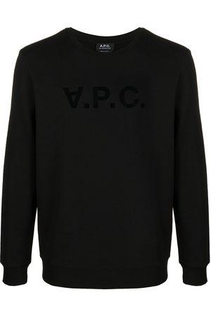 A.P.C Logo-print crew neck sweatshirt