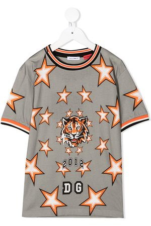 Dolce & Gabbana Star print football shirt