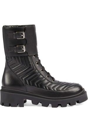 Gucci Interlocking G combat boots