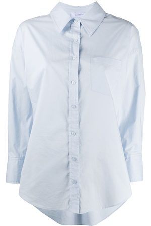 ANINE BING High-low hem long-sleeve shirt