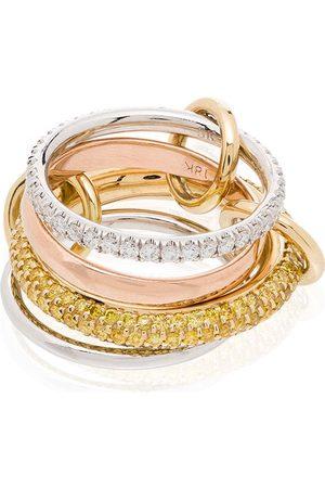 SPINELLI KILCOLLIN 18kt yellow and white gold Vega diamond link ring