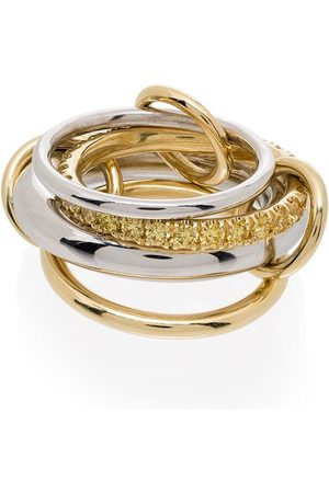 SPINELLI KILCOLLIN Women Rings - 18kt yellow and white gold Luna yellow diamond link ring