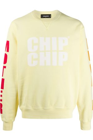 Dsquared2 Slogan printed sleeve detail sweatshirt