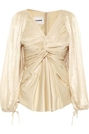 Jil Sander Gathered satin top