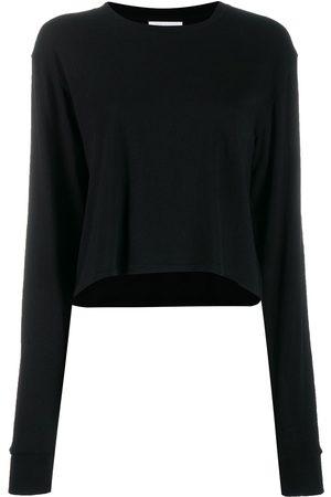 JOHN ELLIOTT Jersey long-sleeved cropped T-shirt