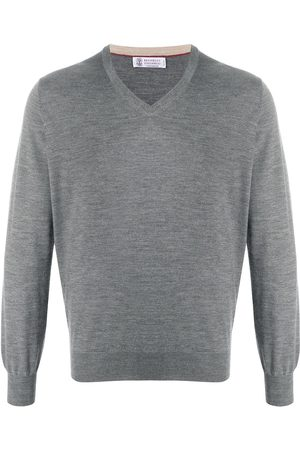 Brunello Cucinelli Fine-knit v-neck jumper