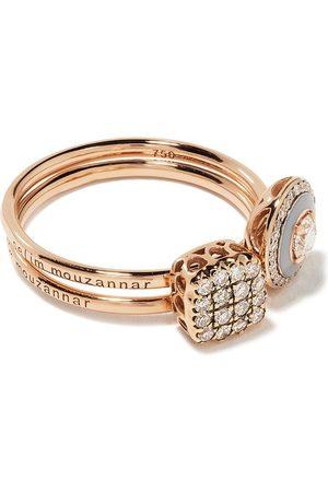 SELIM MOUZANNAR Women Rings - 18kt rose diamond ring set