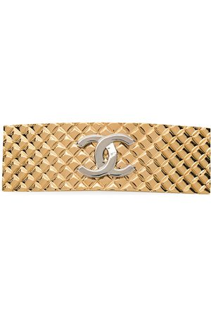 CHANEL 1998 and silver-plated CC hair slide