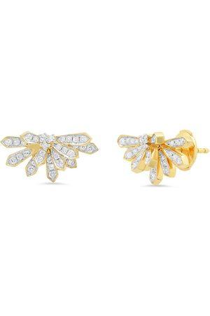 COLETTE 18kt yellow mini Penacho diamond studs